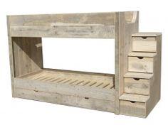 1000 images about stapelbedden on pinterest ikea kura bunk bed and loft beds - Loft bed met opbergruimte ...