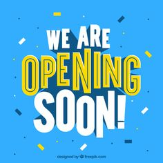 Modern opening soon composition with flat design Free Vector Design Plano, Ad Design, Logo Design, Banner Design Inspiration, Web Banner Design, Web Banners, Flat Design Poster, Food Poster Design, Retro Logos