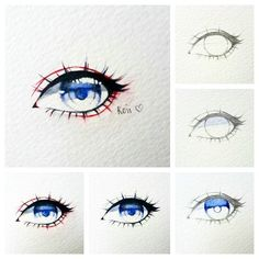 "4,020 Likes, 3 Comments - •Koii (@koiichan02) on Instagram: ""Simple eye tutorial :) HAPPY NEW YEAR EVERYONE  #eye #illustration"""