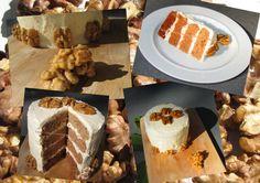 Ombré Walnut Cake