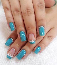 Estas uñas azules estan divinas espero que les guste