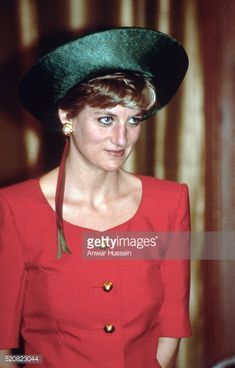 FEBRUARY 12: Diana, Princess of Wales visits visits the President's official residence on February 12, 1992 in New Delhi, India.