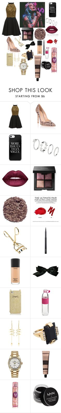 """""""At a Halsey concert💛"""" by ashleydirectioner2 ❤ liked on Polyvore featuring beauty, Gianvito Rossi, Lime Crime, Illamasqua, Urban Decay, MAC Cosmetics, Chanel, Kate Spade, E L L E R Y and Marni"""