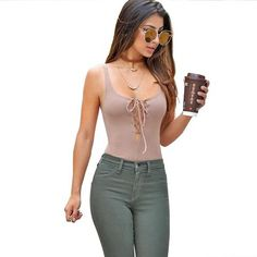 AZULINA Sexy Bodycon Jumpsuit Romper Women Sleeveless Backless Bandage Lace Up Knitted Summer Bodysuit Overalls Body femme 2017 Bodycon Jumpsuit, Womens Bodysuit, Rompers Women, Jeans, Latest Trends, Backless, Lace Up, Sexy, Bodysuits