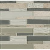Found it at Wayfair - Elume Random Sized Glass Mosaic Linear Tile in Chestnut