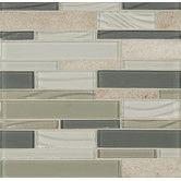 Found it at Wayfair - Elume Random Sized Glass Mosaic Linear Tile in Chestnut