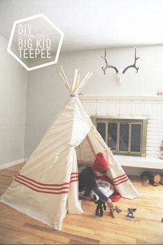 DIY Big Kid Teepee a $22 Project | 12 Fun DIY Teepee Ideas for Kids , see more at: http://diyready.com/fun-and-exciting-diy-teepee-ideas-for-kids/
