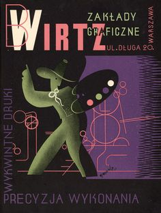 Tadeusz Gronowski, Wirtz Printers, promotional leaflet, 1936, from the post Take a Look at Me Now (2) on 50 Watts