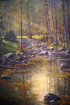 Morning Reflections by Joseph Yarnell Acrylic ~ 36 x 24