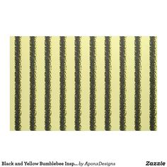 Black and Yellow Bumblebee Inspired Fabric