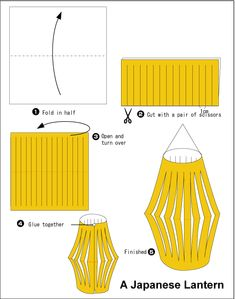 Origami Heart's Ornament Japanese Lantern