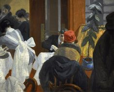 Edward Hopper (American, 1882-1967) New York Restaurant, c.1922. Oil on canvas.