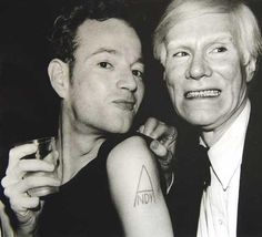 Andy Warhol with Jackie Curtis.