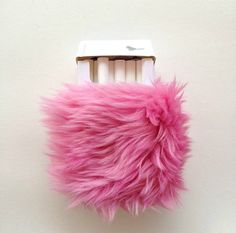 Cute Kawaii Pink Cigarette Case. Furry Cigarette Smoke by Kerenika