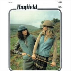 Hayfield DK lady's zipper and patterned waistcoats Knitting Pattern 1433