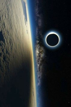 Astronomy nice Solar Eclipse From the International Space Station. - Solar Eclipse From the International Space Station Earth And Space, Planet Earth From Space, Cosmos, Space And Astronomy, Hubble Space, Deep Space, Hd Space, Galaxy Wallpaper, Wallpaper Art