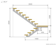 Resultado de imagen de escalera en l medidas Spiral Staircase, Staircase Design, Cafe Design, House Design, Steel Stairs, Stair Detail, Stairs Architecture, House Elevation
