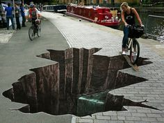 Street art! That would scare the crap out of me