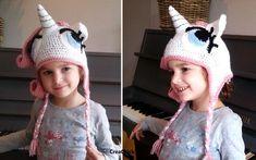 Crochet a unicorn hat (my little pony) for your little girl. Free pattern. Haak een eenhoorn muts voor een meisje. Gratis patroon.