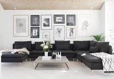 Living room decor home decor ideas interior design ideas neutral colors living room wall art ideas Glam Living Room, Formal Living Rooms, Living Room Sofa, Home And Living, Living Room Decor, Charcoal Sofa Living Room, Living Room Interior, Living Spaces, Picture Wall Living Room
