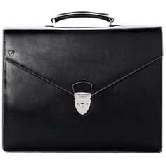 Aspinal of London Leather Executive Laptop Briefcase, Black ($530) ❤ liked on Polyvore featuring bags, briefcases, accessories - bags and accessories