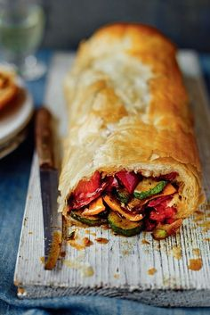 Catering for vegetarians this Christmas? It doesn't always have to be a nut roast. This easy strudel can be prepared ahead Catering for vegetarians this Christmas? It doesn't always have to be a nut roast. This easy strudel can be prepared ahead Vegetarian Cooking, Vegetarian Recipes, Cooking Recipes, Healthy Recipes, Vegetarian Christmas Recipes, Catering Recipes, Vegetarian Roast Dinner, Vegetarian Pastries, Vegan Catering