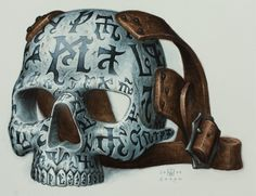 Felrak's Blood Skull Mask of Magical Aura's