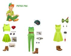 """""""Disney Bound: Peter Pan"""" by the-shadowrider on Polyvore featuring Disney, Jacob Cohёn, Patrizia Pepe, Pilot, Steve Madden, Charlotte Russe, Dorothy Perkins, Helix & Felix and Stop Staring!"""