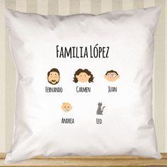 Regalos personalizados Diseño y decoración: Cojín familia personalizado