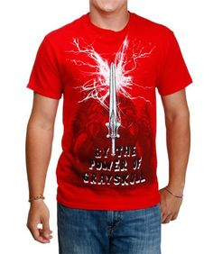 Red Masters Of The Universe The Sword T-Shirt