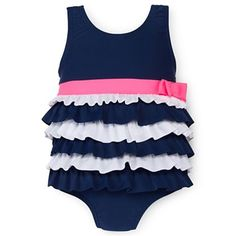 Carter's® One-Piece Ruffled Swimsuit - Girls 3m-24m - jcpenney- If I could be sure she would be in 24month next summer I would buy this now for next year :)