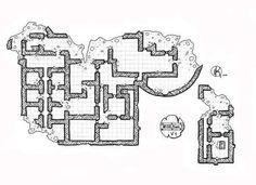Ruined-castle-Floor-3, Floor plan, rpg map, kosmic dungeon