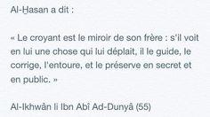 Le croyant est le miroir de son frère...