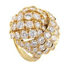 Van Cleef & Arpels Yellow Gold Diamond Ring