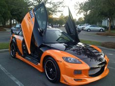 Mazda RX8 with custom body kit and paint job