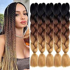 Brown Box Braids, Ombre Box Braids, Colored Box Braids, Jumbo Braiding Hair, Jumbo Box Braids, Kids Box Braids, Triangle Box Braids, Kanekalon Jumbo Braid, Box Braids Hairstyles For Black Women