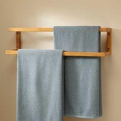 Signature Hardware Salvatore Bamboo Mounted Towel Rack for sale online Wooden Bathroom, Bathroom Furniture, Diy Furniture, Rustic Furniture, Furniture Hardware, Bathroom Canvas, Furniture Removal, Luxury Furniture, Antique Furniture