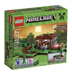 The Lego Minecraft First Night set - a great selection of Lego construction sets at Wonderland Models. One of our favourite sets in the Lego Minecraft Range is The First Night set. Toys R Us, Toys For Boys, Kids Toys, Lego Minecraft, Minecraft Party, Minecraft Stuff, Minecraft Skins, Building Blocks Toys, Kids Building
