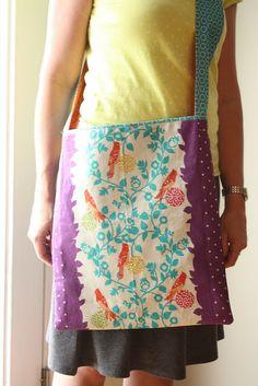 Diary of a Quilter - a quilt blog: Travel Handmade - A Fast Messenger Bag