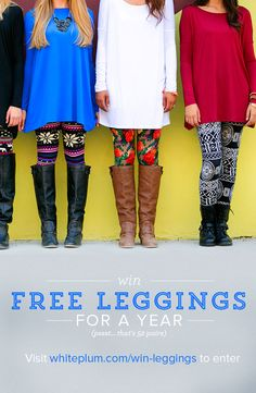Free leggings for a year?! Heck yeah!