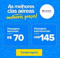 ✈ Voos Nacionais a partir de R$ 70 e Inter em até 12x! :: Jacytan Melo Passagens