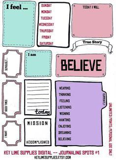 Printable Smash Journal Collage Sheet Hand Drawn for Digital Scrapbook Embellishment Journal Tags Journaling Spots