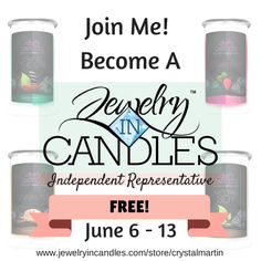 Join Jewelry In Candles Free! #jic #jewelryincandles #theultimateparty – Week 4 Www.jewelryincandles.com/store/mphan