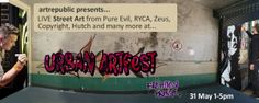 Don't miss Urban ArtFest, with live street art, presented by artrepublic