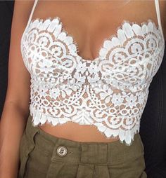 Lace Bralette Crop Top – Trend Addicts