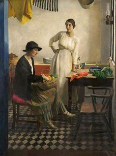 My Kitchen by Harold C. Harvey Date painted: 1923 Oil on canvas, 100.5 x 77.5 cm Collection: Gallery Oldham