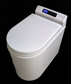 TinyJohn Waterless Incinerating Toilet – ECOJOHN l self-contained, incinerating and evaporating toilets that reduce your waste to neutralized ash. No waste. Tiny House Bathroom, Modern Bathroom, Small Bathroom, Incinerating Toilet, Tiny House Furniture, Composting Toilet, Bathroom Layout, Bathroom Sinks, Bathroom Ideas