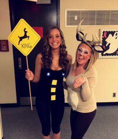 Deer in the headlights! Homemade Halloween costume!  sc 1 st  Pinterest & A Deer in Headlights Costume - Pesquisa Google | Costumes ...
