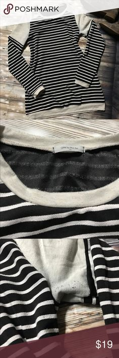 Striped Sweater Tunic In good used condition. Has some slight piling under the arms that is not noticeable when on. Very soft material that is super comfy and flattering. Long enough for me to wear with leggings and boots. Clean and smoke-free home. 12 Pm By Mon Ami Sweaters Crew & Scoop Necks