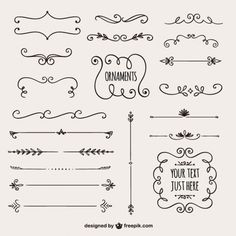 Super easy and super simple ornaments for bullet journal, planner, and school notes. Calligraphy Borders, Calligraphy Doodles, Border Design, Line Design, Design Art, Bullet Journal Inspiration, Journal Ideas, Grafik Design, Zentangle